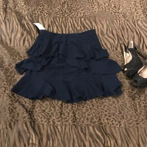 Navy Blue Truffle Skirt